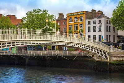 Photograph - The Ha'penny Bridge In Dublin by Debra and Dave Vanderlaan