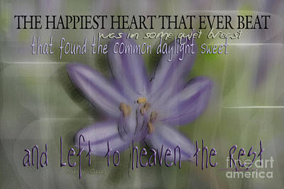 Photograph - The Happiest Heart That Ever Beat by Vicki Ferrari