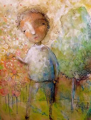 Mixed Media - The Happy Boy by Eleatta Diver