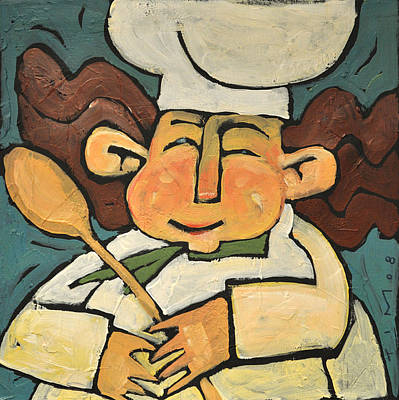 Painting - The Happy Chef by Tim Nyberg