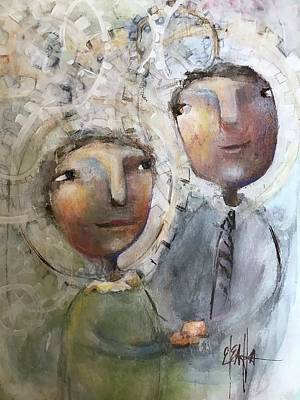 Mixed Media - The Happy Couple by Eleatta Diver