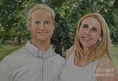 Painting - The Happy Couple by Michelle Welles