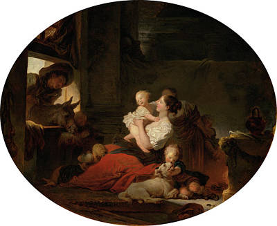 Painting - The Happy Family by Jean-Honore Fragonard