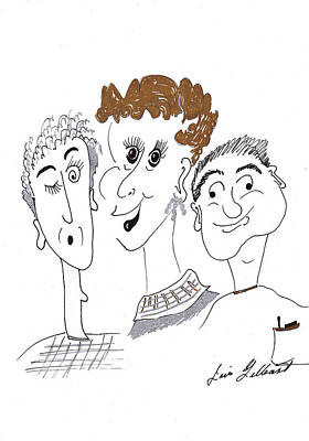 Drawing - The Happy Gang by Iris Gelbart
