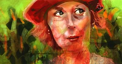 Painting - The Happy Gardener by Jim Vance