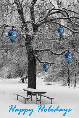 Photograph - The Happy Holidays Tree by Nina Silver