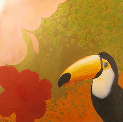 Painting - The Happy Toucan by Adriaan Brolsma