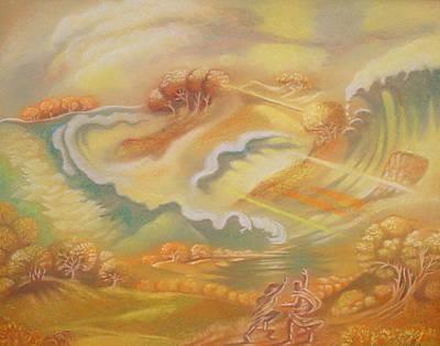 Pastel - The Happy Tsunami by Gary Renegar