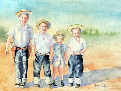 The Happy Wranglers Art Print