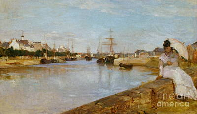 The Harbor At Lorient Art Print by Celestial Images