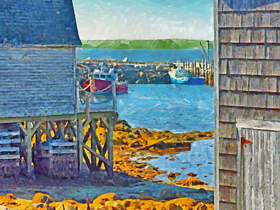 Digital Art - The Harbor At Peggy's Cove by Digital Photographic Arts
