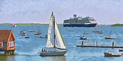 The Harbor At Rockland Maine Art Print