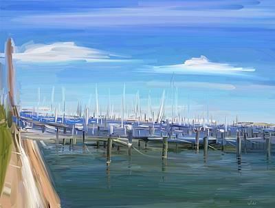 Digital Art - The Harbor by Brett Winn