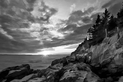 Maine Landscape Digital Art - The Harbor Dusk IIi by Jon Glaser