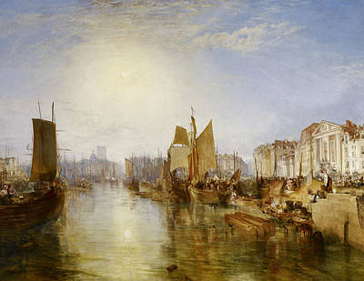Painting - The Harbor Of Dieppe by Joseph Mallord William Turner