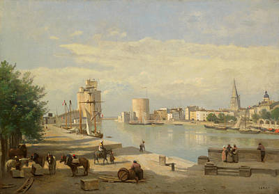 Painting - The Harbor Of La Rochelle by Camille Corot