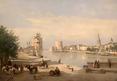 Barrel Painting - The Harbor Of La Rochelle by Mountain Dreams