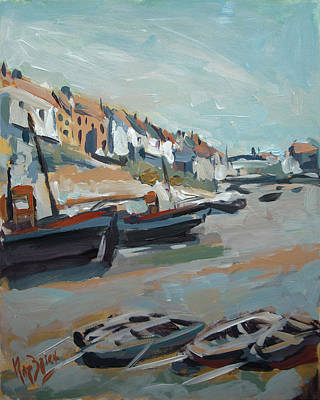 Painting - The Harbour Of Mevagissey by Nop Briex