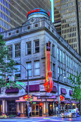 Photograph - The Hard Rock Cafe Atlanta Downtown Art by Reid Callaway