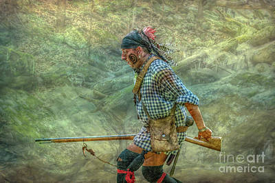 Huron Indian Digital Art - The Hard Run by Randy Steele