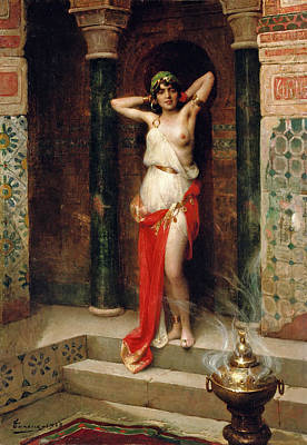 Henri Adrien Tanoux Painting - The Harem Beauty by Henri Adrien Tanoux