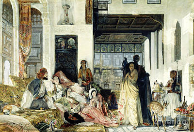 Prostitutes Painting - The Harem by John Frederick Lewis