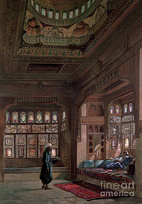 Slaves Painting - The Harem Of Sheikh Sadat, Cairo, 1870 by Frank Dillon