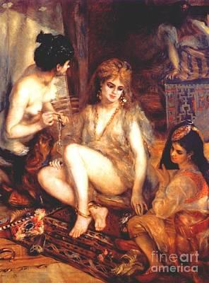 The Harem Art Print by Renoir
