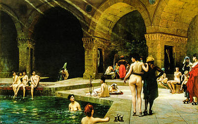The Harem's Pool  Art Print by Jean Leon Gerome