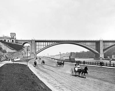 Turn Of The Century Photograph - The Harlem River Speedway by William Henry jackson