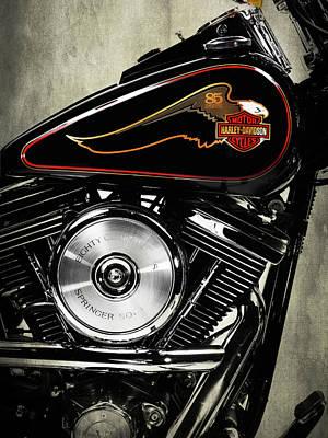 Harley Davidson Photograph - The Harley 85th 1988 by Mark Rogan