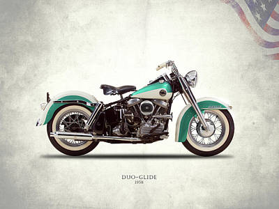 Photograph - The Harley Duo-glide 1958 by Mark Rogan