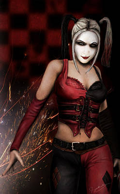 Digital Art - The Harley Quinn by Jeremy Martinson