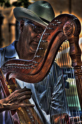 The Harp Player Art Print by David Patterson