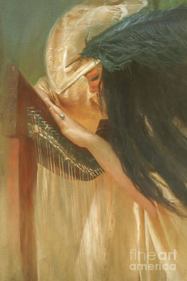 Thomas Kinkade Rights Managed Images - The Harpist 2 Royalty-Free Image by Jan Galland