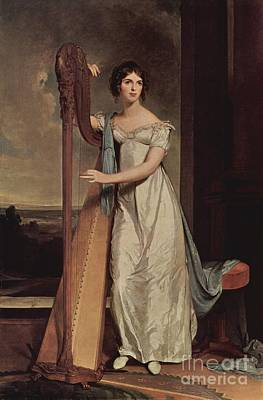 Thomas Sully Painting - The Harpist by MotionAge Designs