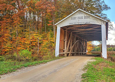 Photograph - The Harry Evans Covered Bridge by Harold Rau