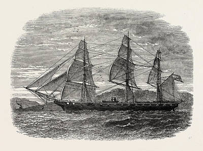 Sailboats Drawing - The Hartford by American School