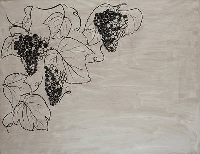 Blue Grapes Drawing - The Harvest/2 by Miriam