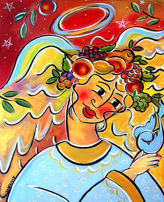 Painting - The Harvest Angel by Jan Oliver-Schultz