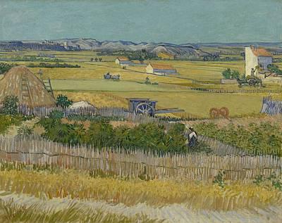 Painting - The Harvest Arles  June 1888 Vincent Van Gogh 1853  1890 by Artistic Panda