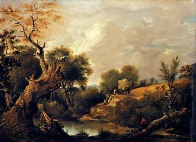 Painting - The Harvest Field by Constable John