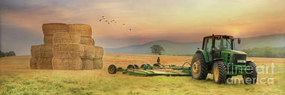 Bale Digital Art - The Harvest Is Plentiful by Lori Deiter