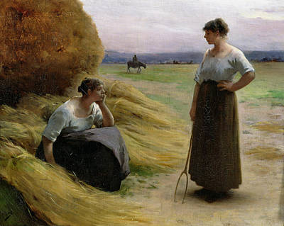 The Harvesters Print by Henri Lerolle