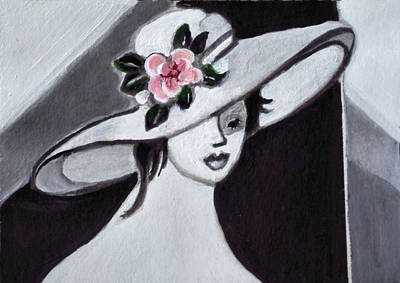 Painting - The Hat by Diane Ursin