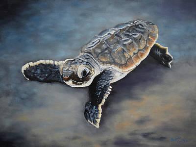 Emergence Painting - The Hatchling by Belinda Nagy