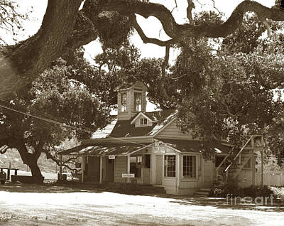 Photograph - The Hatton Dairy House In Carmel Valley  Circa 1950 by California Views Mr Pat Hathaway Archives
