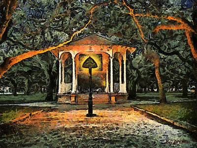 The Haunted Gazebo Art Print