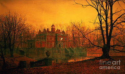 Grimshaw Painting - The Haunted House by John Atkinson Grimshaw