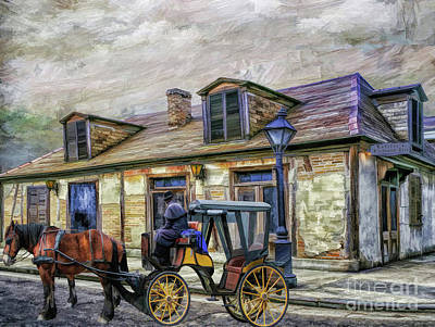 Creole Cottage Wall Art - Painting - The Haunted Lafitte's Blacksmith Shop  by L Wright